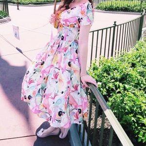 Short sleeve flared dress